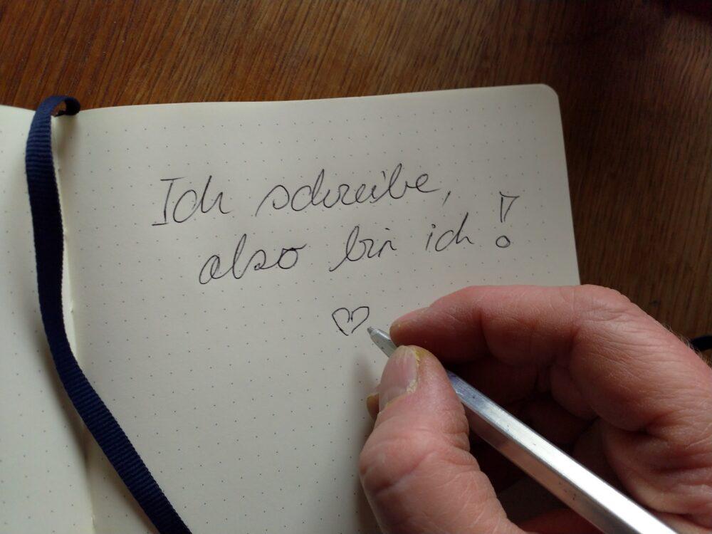 ich schreibe also bin ich